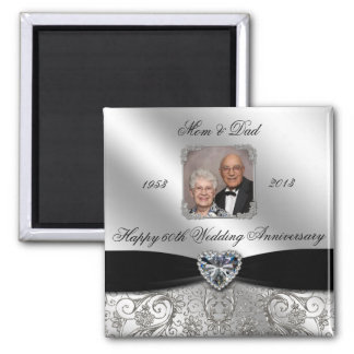 60th Wedding Anniversary Photo Magnet