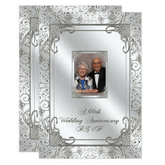 60th Wedding Anniversary Photo RSVP Card