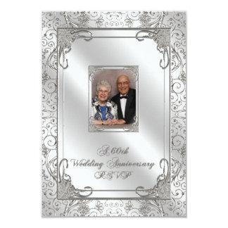 60th Wedding Anniversary Photo RSVP Card 9 Cm X 13 Cm Invitation Card