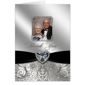60th Wedding Anniversary Photo Thank You Card