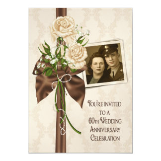 60th Wedding Anniversary Roses Card
