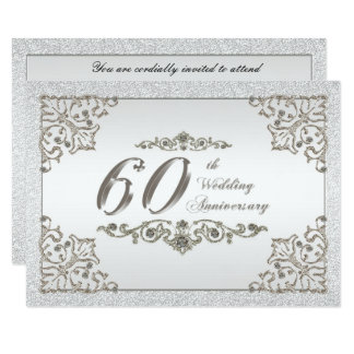 60th Wedding Anniversary RSVP Card