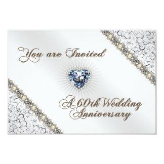 60th Wedding Anniversary RSVP Invitation Card