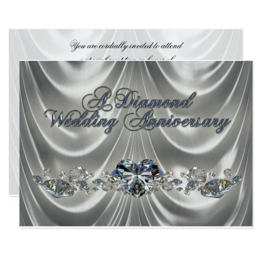 60th Wedding Anniversary RSVP Invitation Card