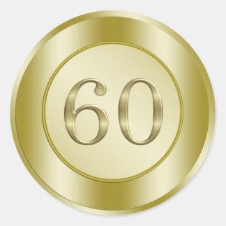 60th Wedding Anniversary Round Sticker