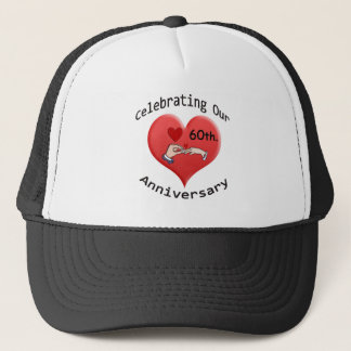 60th. Wedding Anniversary Trucker Hat