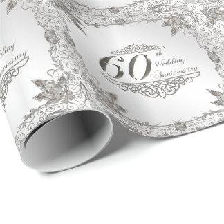 60th Wedding Anniversary Wrapping Paper