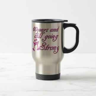 60th year anniversary stainless steel travel mug