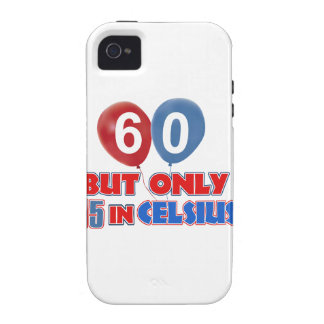 60th year old birthday designs Case-Mate iPhone 4 case