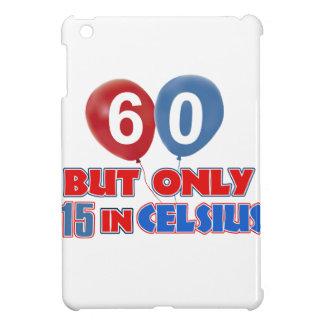 60th year old birthday designs iPad mini covers