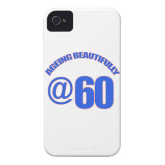 60TH year old designs Case-Mate iPhone 4 Case