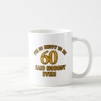 60th year old gifts basic white mug