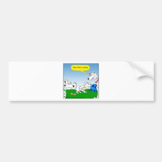 613 dalmation cat cartoon bumper stickers
