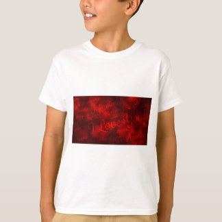 615 LOVE LANGUAGES RED SATIN SHINY BACKGROUNDS WAL SHIRT