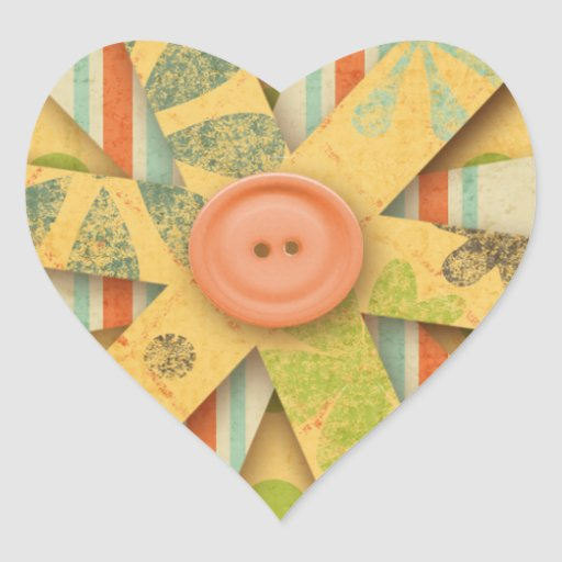 6185 PAPER FLOWER CUTOUT PEACHES PASTEL YELLOW GRE STICKERS