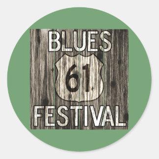 61 Blues Festival Classic Round Sticker
