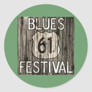 61 Blues Festival Round Sticker