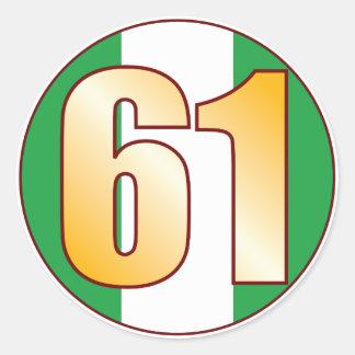 61 NIGERIA Gold Classic Round Sticker