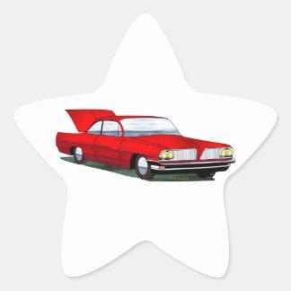 61 Pontiac 2 Door Hardtop Star Stickers