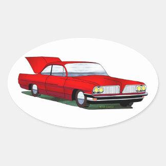 61 Pontiac 2 Door Hardtop Oval Sticker