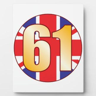 61 UK Gold Plaque