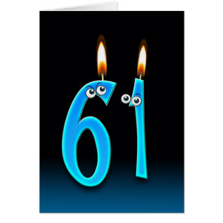 61st Birthday Candles Greeting Card