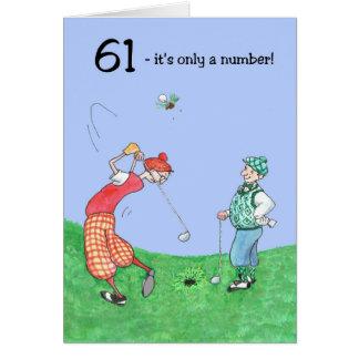 61st Birthday Card for a Golfer