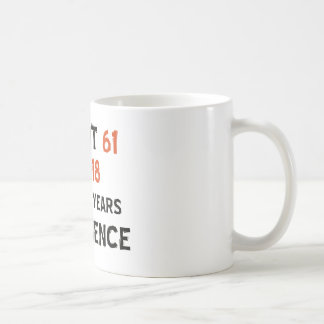 61st birthday designs coffee mug