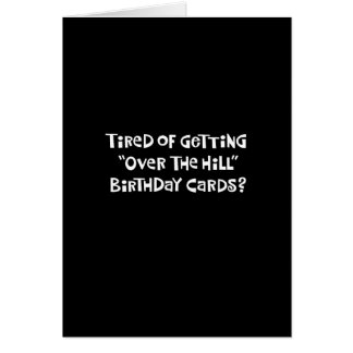 "61st Birthday Funny ""Over the Hill"" Card"