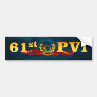 61st PVI blue bumpersticker Bumper Sticker