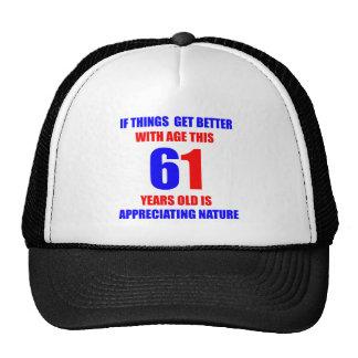 61th Birthday Design Cap