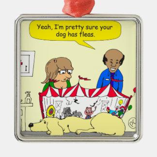 626 dog has fleas cartoon christmas ornament