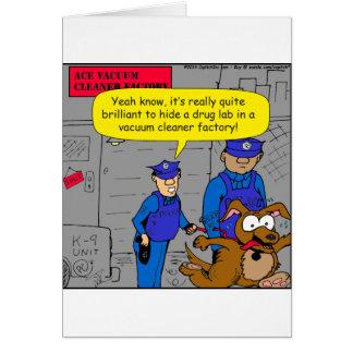 629 fearful police drug dog cartoon cards