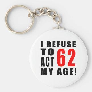 62 birthday design key chain