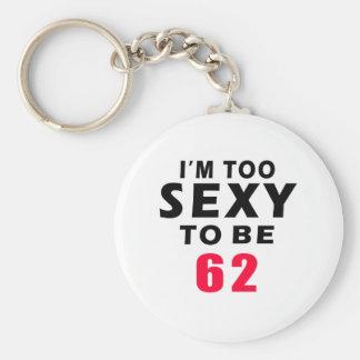 62 birthday designs keychains
