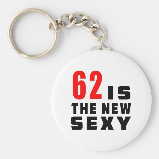 62 birthday designs key chain