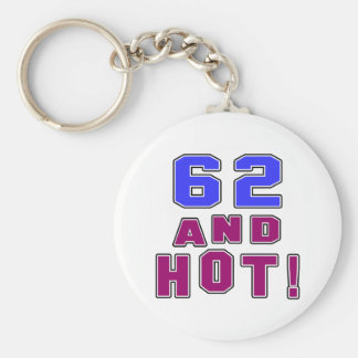 62 birthday designs keychain
