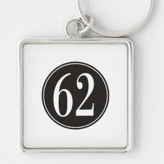62 Black Circle Key Chains