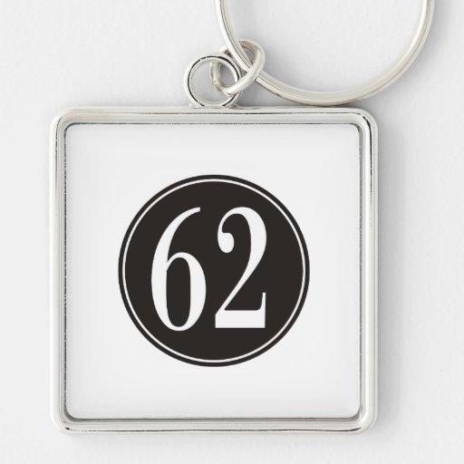 #62 Black Circle Key Chains