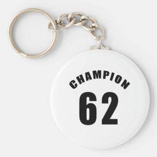 62 champion designs keychain