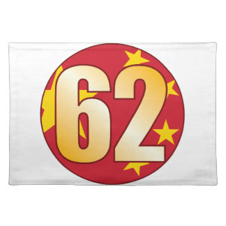 62 CHINA Gold Placemat