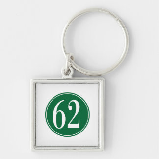 #62 Green Circle Keychain