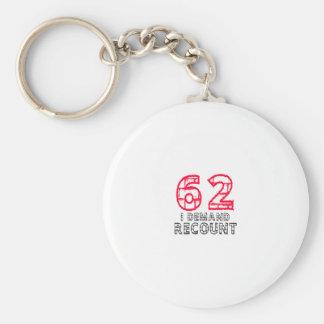 62 I Demand Recount Birthday Designs Keychain