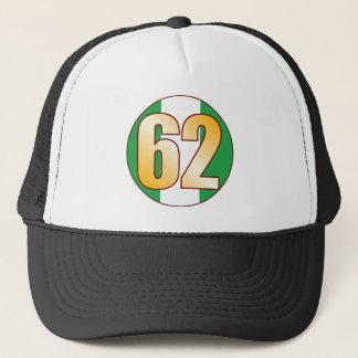 62 NIGERIA Gold Trucker Hat
