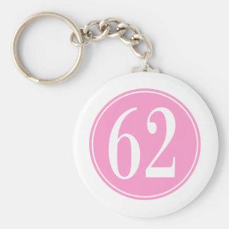 #62 Pink Circle Keychain
