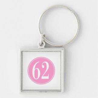 #62 Pink Circle Key Chains