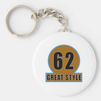 62 The Style Birthday Designs Keychain