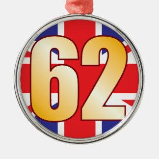 62 UK Gold Christmas Ornament