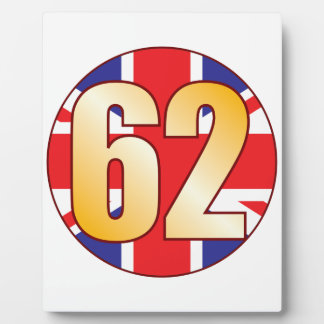 62 UK Gold Plaque