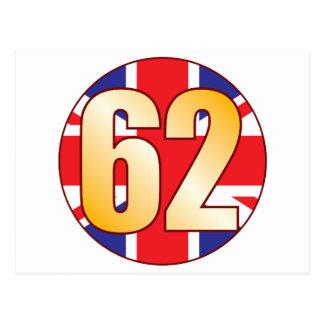 62 UK Gold Postcard